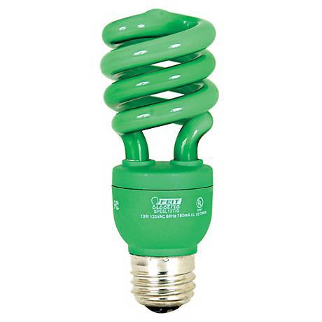 ECObulb 13 Watt CFL Twist Green Party Bulb
