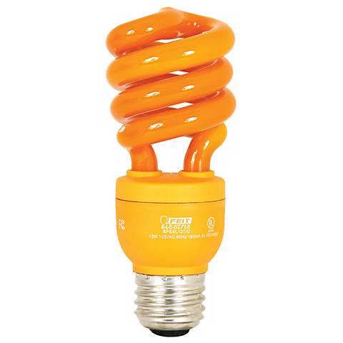 ECObulb 13 Watt CFL Twist Orange Party Bulb