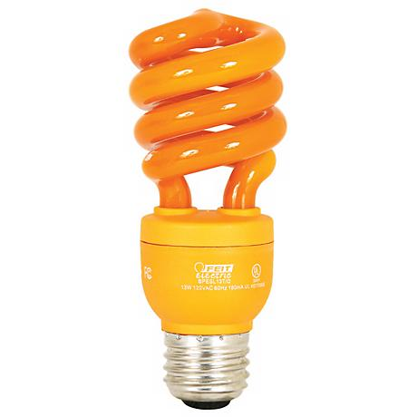 ECObulb 13 Watt CFL Twist Orange Party Bulb