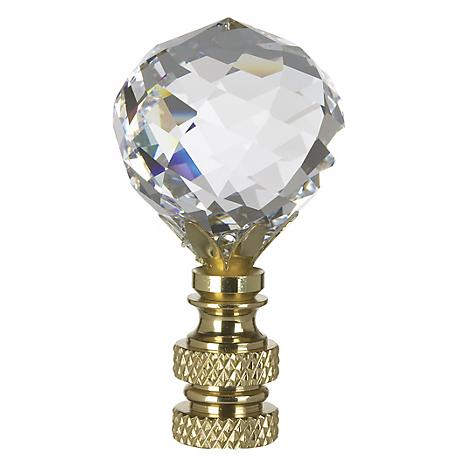Multi-Faceted Swarovski Crystal Ball Lamp Shade Finial