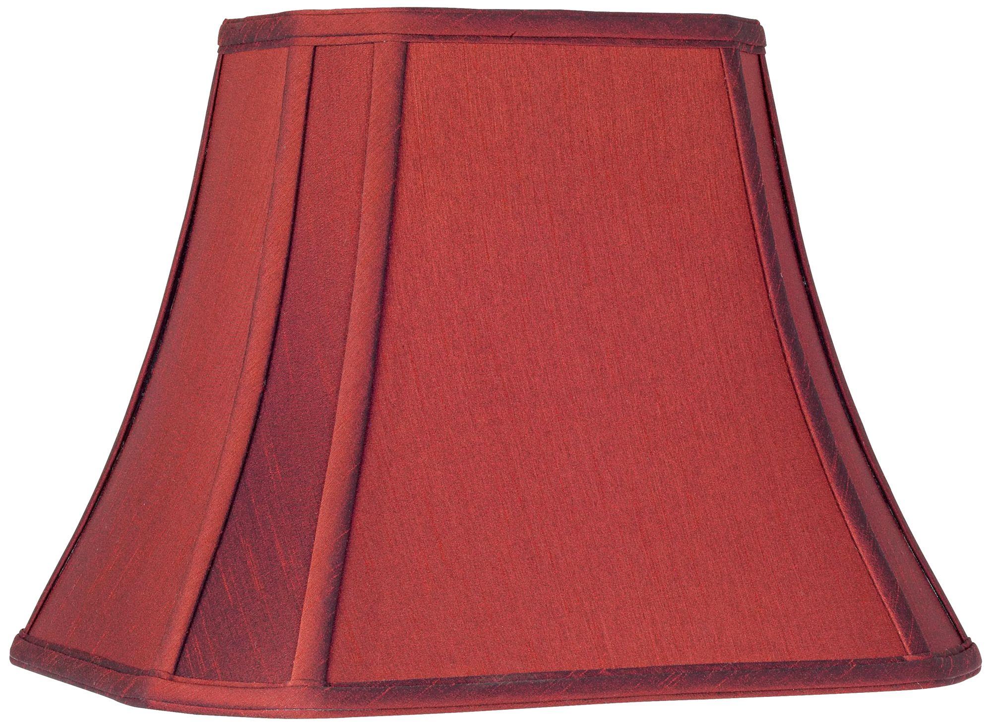 crimson red cutcorner lamp shade 68x1114x11 spider - Red Lamp