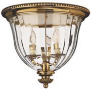 "Hinkley Cambridge Brass 14 1/2"" Wide Ceiling Light"