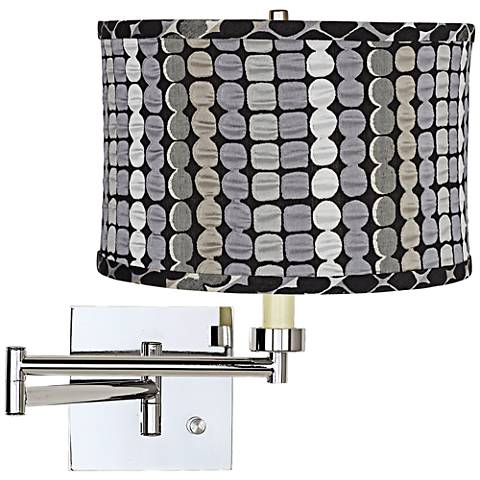 Klose Gray Chrome Plug-In Swing Arm Wall Lamp