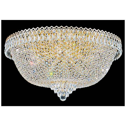 "Schonbek Camelot 28""W Aurelia 21-Light Crystal Ceiling Light"