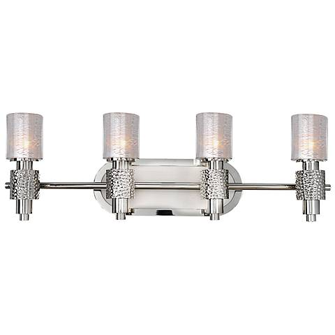 "Ashington 27 1/2"" Wide Satin Nickel 4-Light Bath Light"
