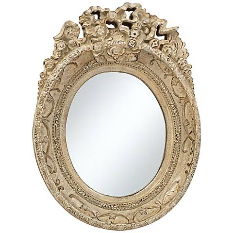 "Mansfield Park Stone Crown 12"" x 16 1/2""  Wall Mirror"