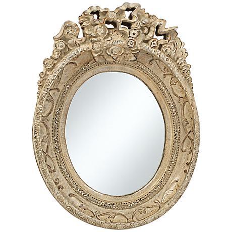 "Mansfield Park Stone Crown 12"" x 16 1/2""  Wall Mirror"