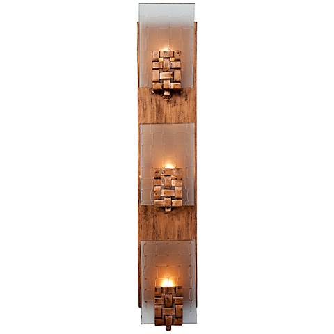"Varaluz Dreamweaver 4 1/2"" Wide Copper Bath Light"