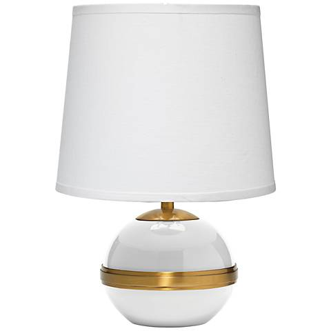 "Jamie Young 18""H White Stockholm Accent Lamp"