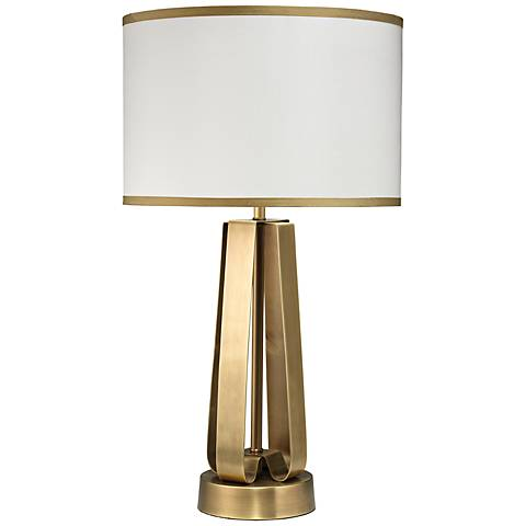 Jamie Young Antique Brass Strap Table Lamp