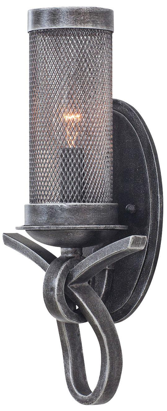 Delancey 17  High Vintage Iron Mesh Wall Sconce  sc 1 st  L&s Plus & Delancey 17