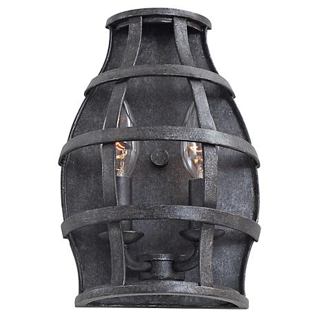 """Townsend 10 1/2"""" High Vintage Iron 2-Light Wall Sconce"""