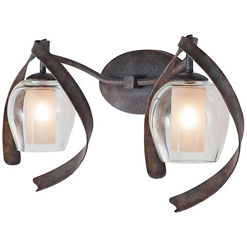 "Solana 21 3/4"" Wide Copper Hand-Forged Bath Light"