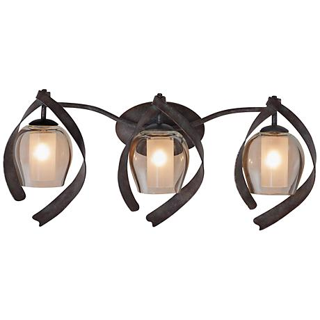 """Solana 29"""" Wide Copper Hand-Forged Bath Light"""