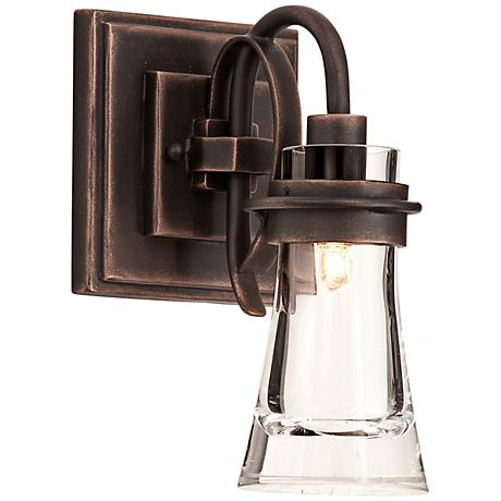 """Dover 10 1/2"""" High Antique Copper Wall Sconce"""