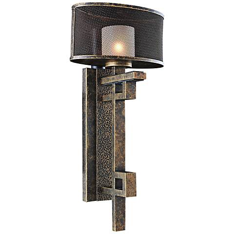"Stanley 21 1/2"" High Volcano Bronze Wall Sconce"