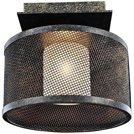 """Stanley 8 1/4"""" Wide Volcano Bronze Ceiling Light"""