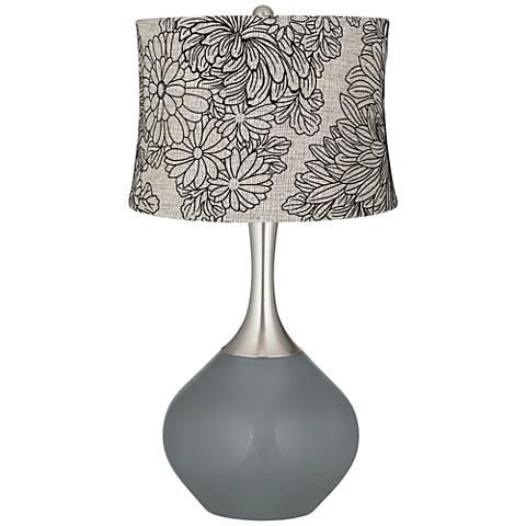 Software Velveteen Chrysanthemum Shade Spencer Table Lamp