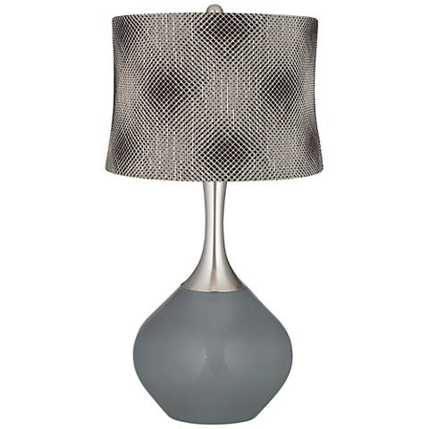 Software Black Pixels Shade Spencer Table Lamp