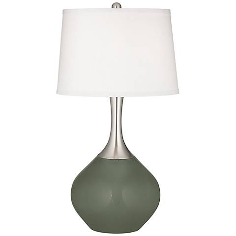 Deep Lichen Green Spencer Table Lamp