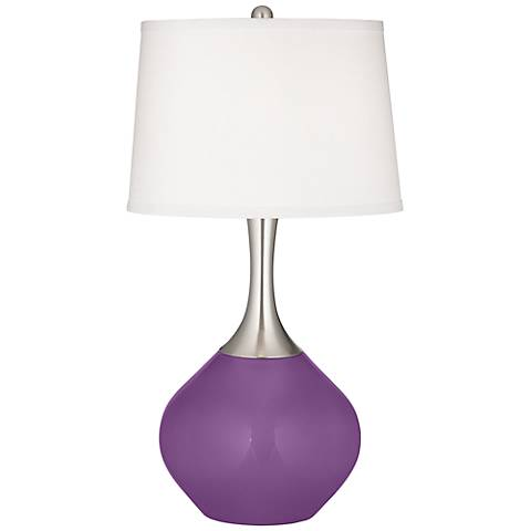 Passionate Purple Spencer Table Lamp