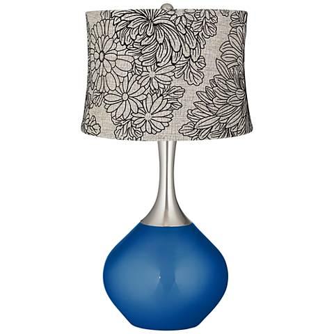 Ocean Metallic Velveteen Chrysanthemum Spencer Table Lamp
