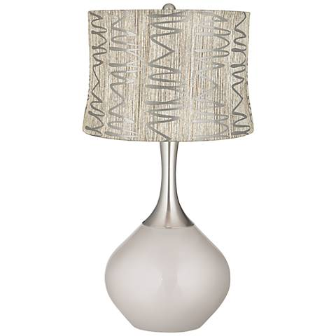 Silver Lining Metallic Abstract Squiggles Shade Spencer Lamp
