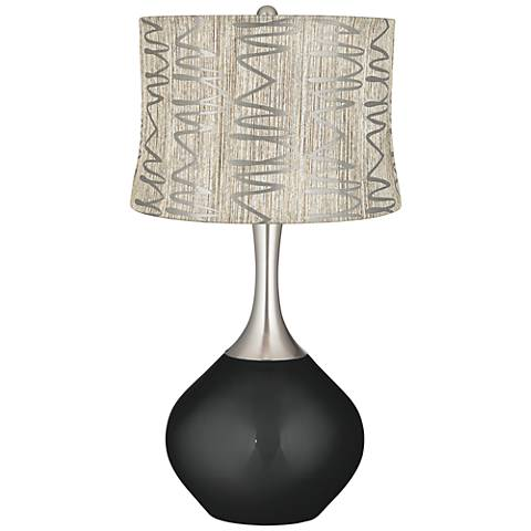 Caviar Metallic Abstract Squiggles Shade Spencer Table Lamp
