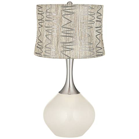 West Highland White Abstract Squiggles Shade Spencer Lamp