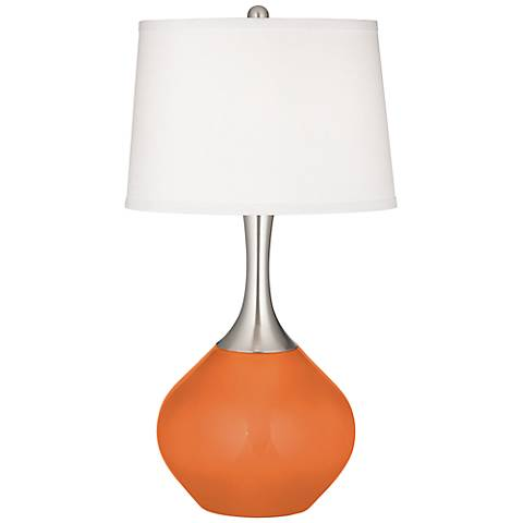 Celosia Orange Spencer Table Lamp