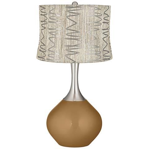 Light Bronze Metallic Abstract Squiggles Shade Spencer Lamp