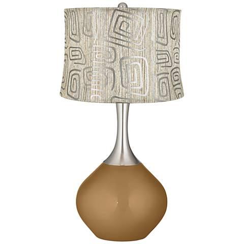 Light Bronze Metallic Spiral Squiggles Shade Spencer Lamp