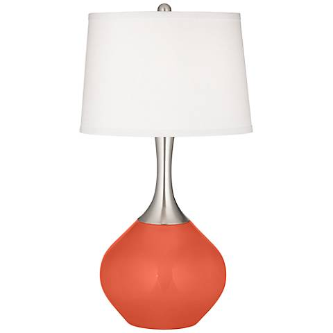 Daring Orange Spencer Table Lamp