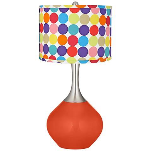 Daredevil Multi-Color Circles Shade Spencer Table Lamp