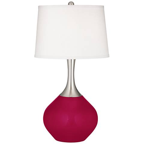 French Burgundy Spencer Table Lamp