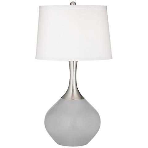 Swanky Gray Spencer Table Lamp