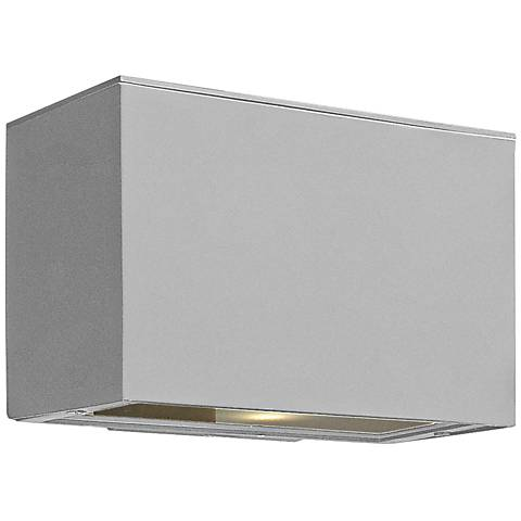 "Hinkley Atlantis LED 9"" High Titanium Outdoor Wall Light"