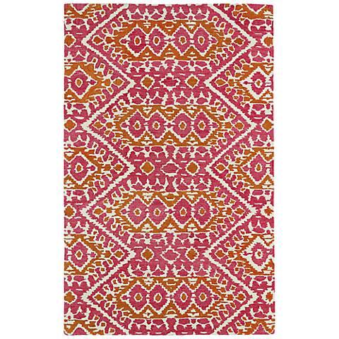 Kaleen Global Inspirations GLB01-92 Pink Wool Rug