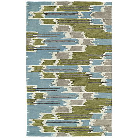 Kaleen Global Inspirations GLB02-70 Light Blue Area Rug