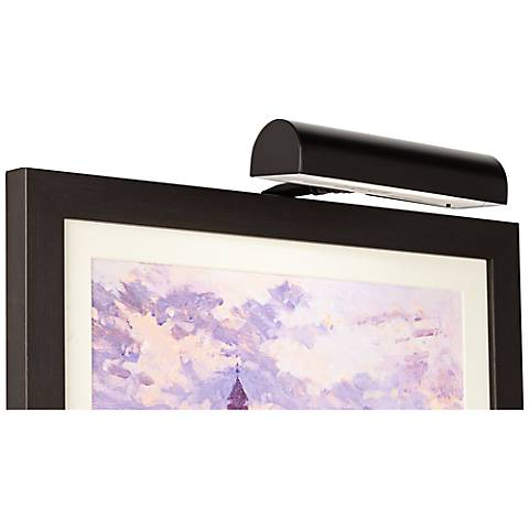 "Slimline Black 8""W Cordless LED Picture Light"