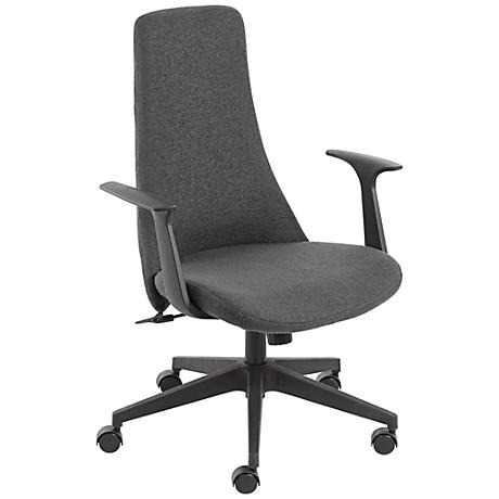 Fontaine Gray High-Back Swivel Office Chair