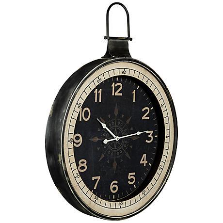 """Cooper Classics Zocha 32"""" High Metal Wall Clock"""