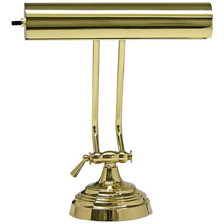 House of Troy Adjustable Polished Brass Piano Desk Lamp