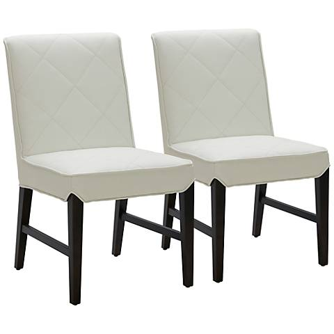 Main Street Ivory Diamond Dining Chair Set of 2