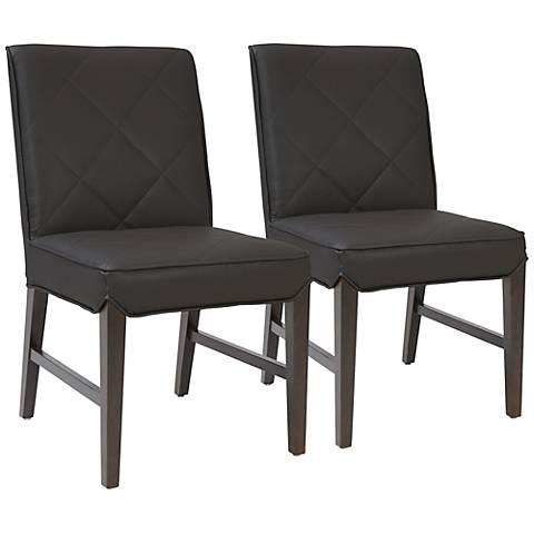 Main Street Gray Diamond Dining Chair Set of 2