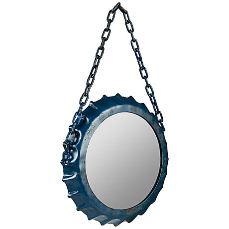 "Cooper Classics Minda Blue 14""x22 1/4"" Wall Mirror"
