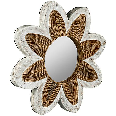 """Cooper Classics Maiden Floral 23 3/4"""" Round Wall Mirror"""