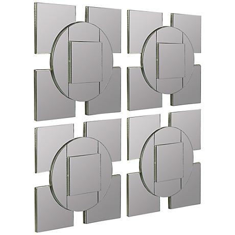 "Cooper Classics Tupan 13 3/4"" Square Wall Mirror Set of 4"