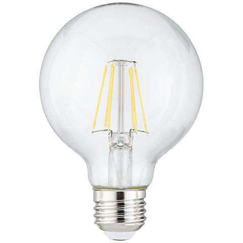 60W Equivalent Tesler Clear 8W LED Filament Dimmable G25