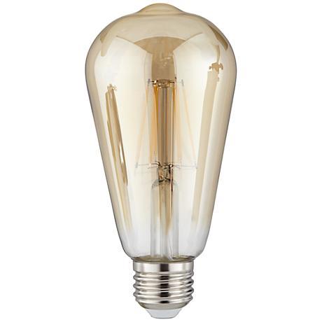 Amber 8.5 Watt ST64 Dimmable LED Edison Bulb